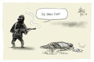Solidarische Karikaturen aus der ganzen Welt
