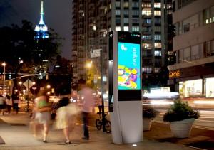 So sieht die WLAN-Station aus, die 8 Millionen Menschen in New York frei zugängliches WLAN ermöglichen soll.